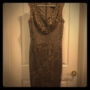 Beautiful gold sequined cocktail dress, size 8
